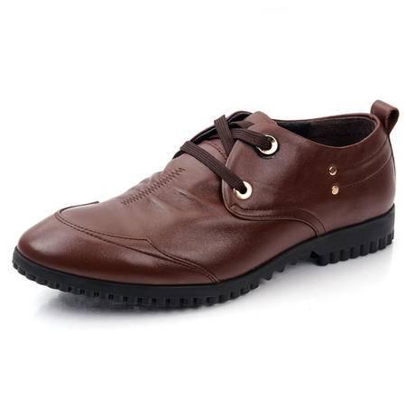 德雷克船长品牌正品 男士英伦日常舒适透气商务休闲真皮皮鞋671