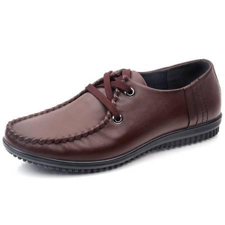 德雷克船长品牌正品 男士纯手工橡胶按摩底英伦休闲商务皮鞋66032