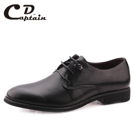 德雷克船长品牌真皮男鞋 正品圆头正装商务皮鞋系带男鞋1570