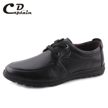 德雷克船长品牌正品 特大码商务舒适软皮软底商务休闲真皮皮鞋80121