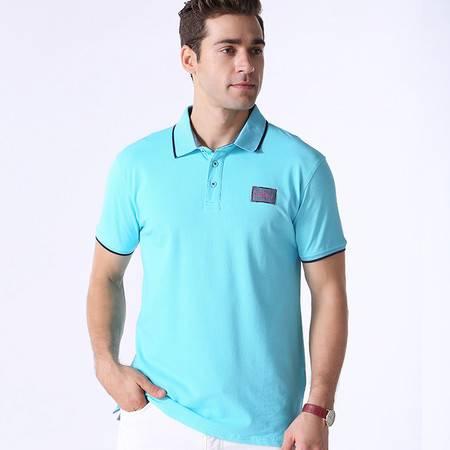 2016夏季针织棉珠地布商务休闲POLO衫纯色翻领T恤 立领