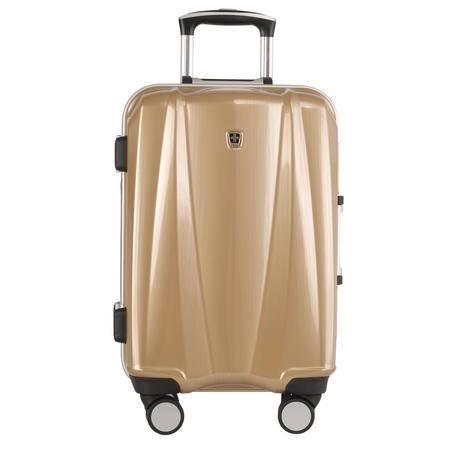 SWISSMOBILITY 瑞士瑞动20寸时尚铝框PC+ABS旅行登机箱行李拉杆箱