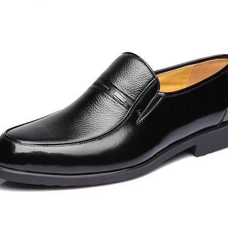 鳄鱼恤新品男士商务正装皮鞋男款真皮鞋子爸爸鞋英伦高档皮质男鞋