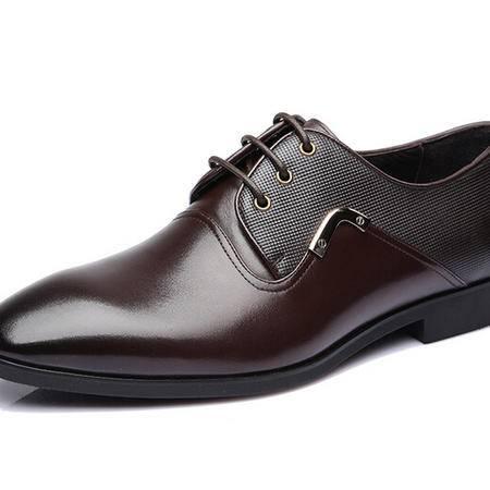 鳄鱼春秋新款商务正装男士皮鞋正品婚鞋头层牛皮男鞋