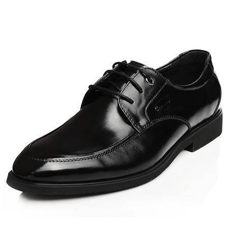 鳄鱼秋季男士尖头商务正装皮鞋韩版正品真皮透气男鞋
