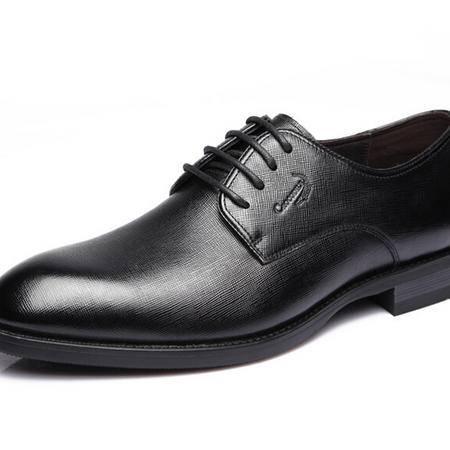 鳄鱼恤2015春季新款商务正装皮鞋男士圆头系带男鞋真皮正品英伦