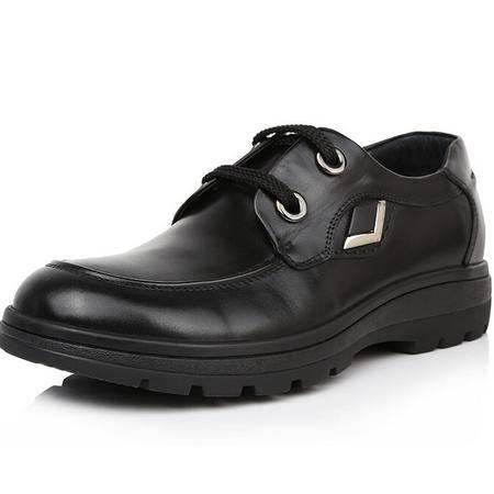 鳄鱼恤高档品牌男鞋商务休闲男士皮鞋头层牛皮正品男鞋子弹力底