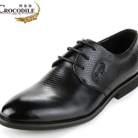鳄鱼恤品牌男鞋商务正装皮鞋男英伦男士尖头结婚皮鞋真皮正品男鞋