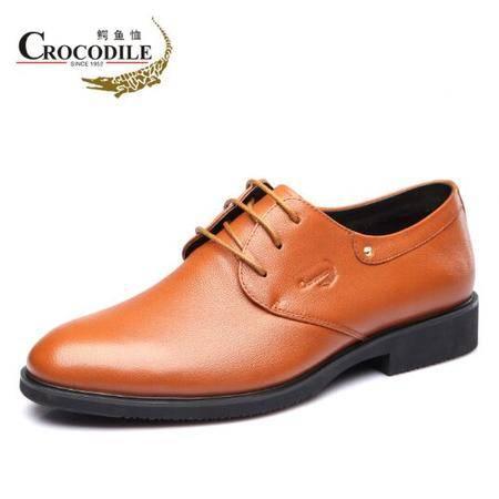 鳄鱼恤2015春季新款男士商务皮鞋真皮正装男鞋英伦系带正品圆头