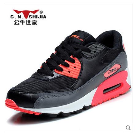 公牛世家夏网鞋透气大码运动休闲鞋内增高气垫鞋女韩版潮网布男鞋