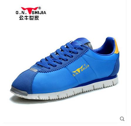 公牛世家网布男鞋2015春季新款韩版运动休闲鞋潮流透气男士阿甘鞋