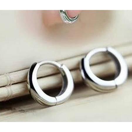 韩国可爱光面耳扣925纯银耳钉防过敏女款银耳环