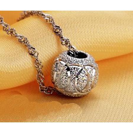 925纯银转运珠项链欧美饰品复古项链吊坠