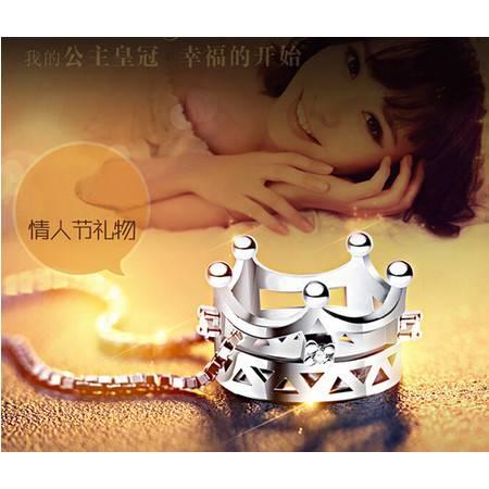韩国版925纯银饰品皇冠公主项坠吊坠可爱项坠项链
