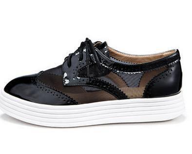 莱卡金顿2015春季新款潮 布洛克单鞋子 网纱透气时尚尖头平底女鞋