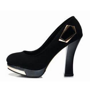 莱卡金顿秋季高跟水钻鞋 尖头高跟鞋细跟女单鞋浅口鞋秋鞋女鞋潮