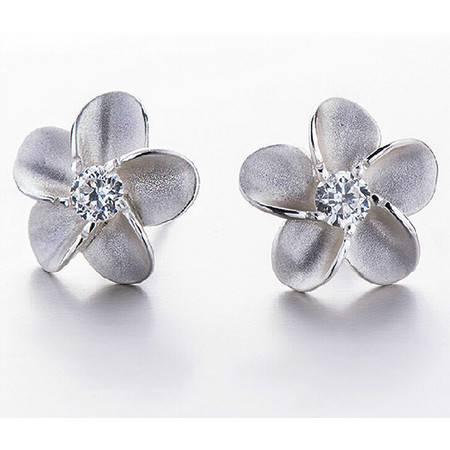 耳钉925纯银饰品女花与爱丽丝花朵韩版时尚百搭首饰