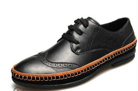 公牛世家布洛克鞋男士真皮雕花休闲鞋英伦低帮鞋单鞋流皮鞋男鞋子