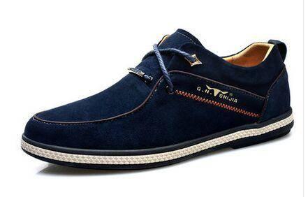 公牛世家男鞋新品英伦风反绒真皮板鞋潮流男士休闲鞋低帮时尚单鞋