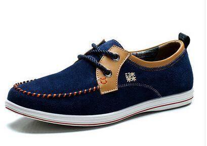 木林森2015夏季新款日常男士休闲鞋真皮反绒皮板鞋英伦潮流男鞋子