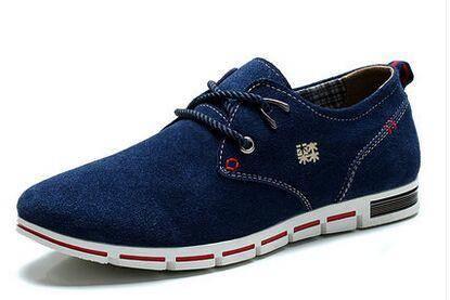 木林森男鞋夏季新款英伦风男士真皮休闲鞋透气单鞋子男生板鞋正品
