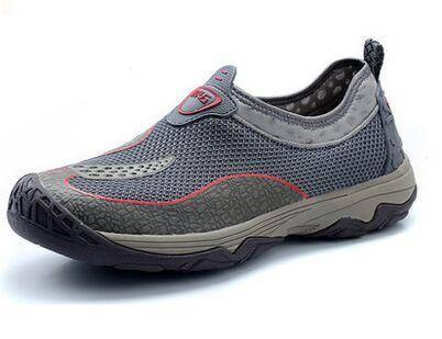 木林森2015夏季新款透气男鞋夏季运动网鞋网面鞋男一脚蹬懒人鞋子