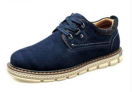 木林森男鞋春夏季男士工装鞋英伦低帮大头鞋真皮鞋英伦风潮流鞋子