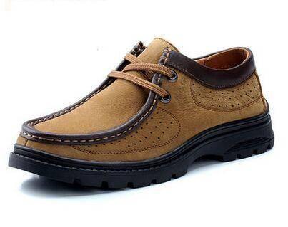 木林森透气鞋春季新款流行男鞋韩版男士真皮皮鞋商务休闲板鞋鞋子