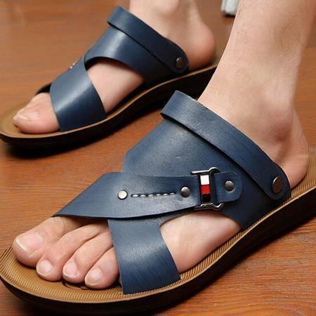 夏季新款男凉鞋韩版男士沙滩鞋休闲男鞋潮透气夏天男凉拖鞋