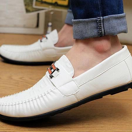 夏季新款男豆豆鞋套脚懒人驾车鞋英伦潮流板鞋低帮休闲男单鞋