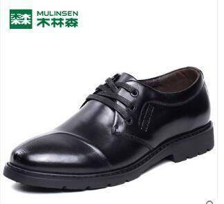 木林森正品男鞋子英伦复古牛津鞋商务正装皮鞋真皮系带潮流低帮鞋