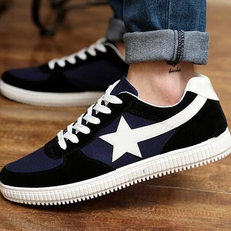 夏时尚运动休闲男板鞋韩版潮男鞋透气男士帆布鞋学生鞋子