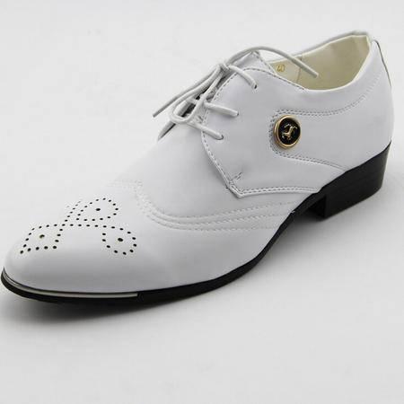 2015春季新款白色男鞋潮前系带低帮男式休闲皮鞋真皮男鞋