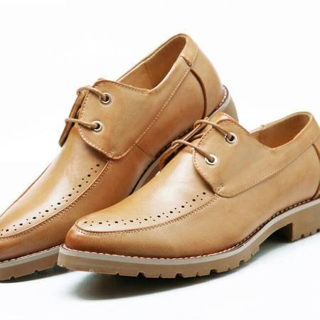 真皮男士鞋布洛克男鞋休闲鞋小皮鞋男士休闲皮鞋