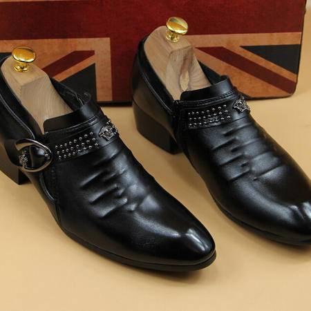 新款男鞋2015商务男士结婚带钻品牌男鞋