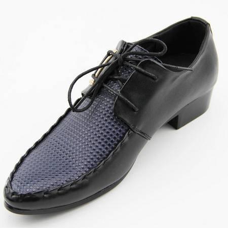 夏季男士皮鞋正品真皮豆豆鞋男鞋潮尖头坡跟鞋