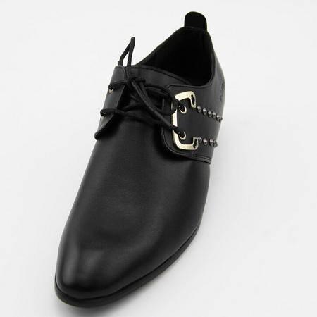 夏秋休闲男鞋品牌皮鞋真皮定制微信鞋前系带尖头皮鞋