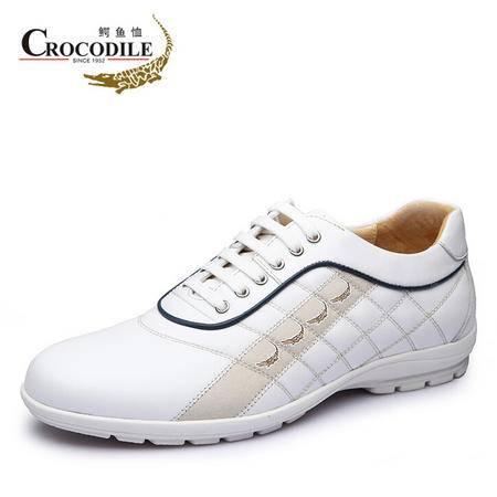 鳄鱼恤2015春季新品日常休闲皮鞋时尚运动男鞋透气韩版潮鞋真皮