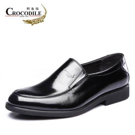 鳄鱼恤2015春季新品商务正装皮鞋 真皮头层皮懒人鞋套脚男鞋英伦