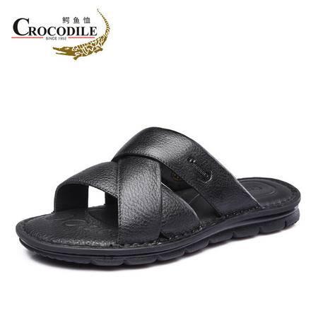 鳄鱼恤2015夏季新品沙滩鞋软面舒适耐磨凉拖男