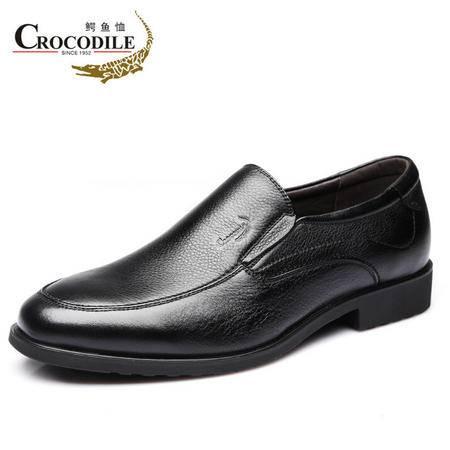 鳄鱼恤2015春季新品男士商务牛皮鞋套脚正装男鞋真皮软皮英伦正品