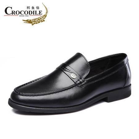 鳄鱼恤2015春季新款商务正装皮鞋英伦套脚一脚蹬懒人鞋