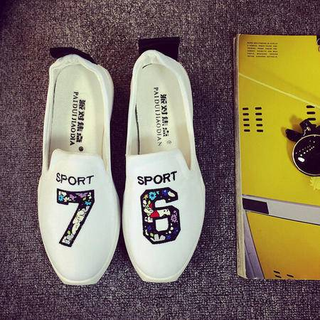 2015女夏韩版潮透气帆布鞋女舒适平底布鞋百搭简约休闲学生单鞋
