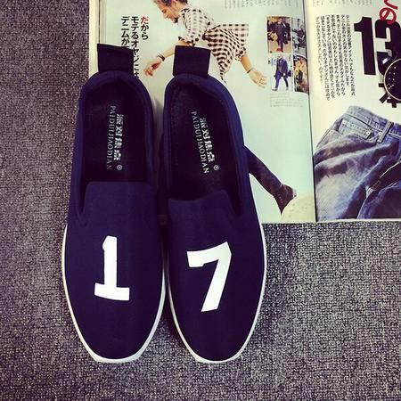 2015夏季新款帆布鞋男士透气休闲板鞋韩版男鞋低帮一脚蹬懒人鞋子
