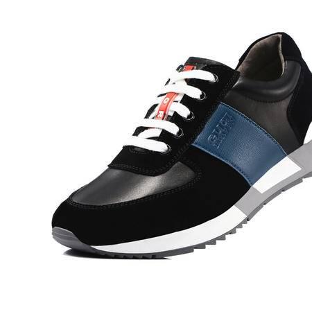 古奇天伦2015反绒皮男鞋系带真皮轻便登山鞋男低帮户外休闲运动鞋