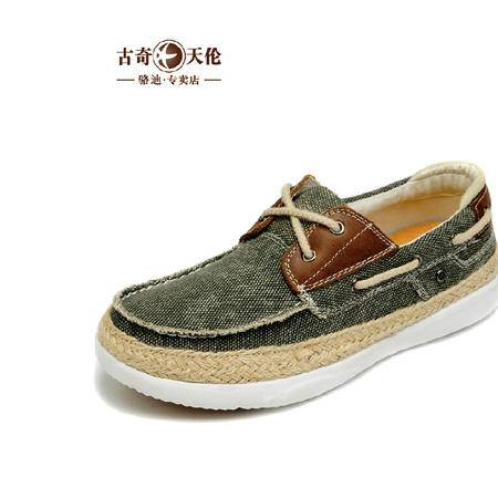 古奇天伦运动休闲鞋草鞋男士韩版帆布低帮鞋子潮流男鞋帆船鞋
