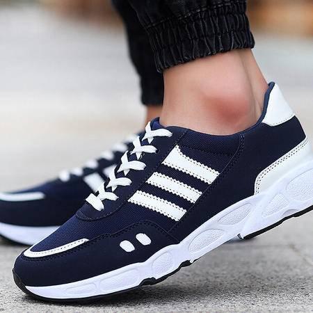 2015秋季学生运动鞋男韩版条纹系带跑步鞋低帮板鞋时尚潮流男鞋子