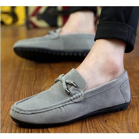 秋季韩版潮流男鞋子休闲透气驾车鞋一脚蹬懒人鞋套脚男士豆豆鞋男