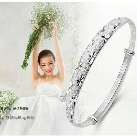 时尚流行款满天星手环手镯纯银色泽长久保色