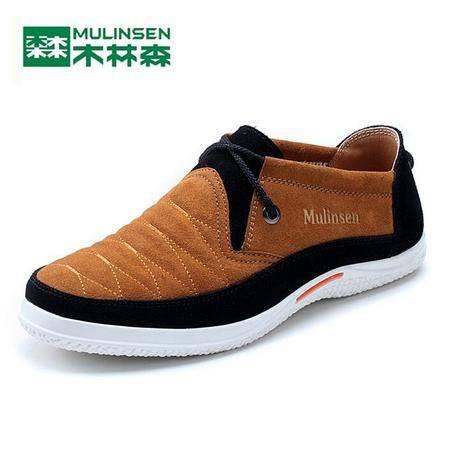 2015木林森男鞋真皮板鞋反绒皮鞋男士休闲鞋韩版潮流男单鞋潮鞋